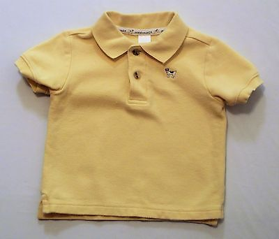 "Janie & Jack ""Spring Best"" Puppy Dog Yellow Polo Top, 6-12 mos."