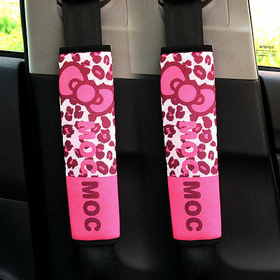 ON SALE# NEW MocMoc Leopard Print Car Seat Belt Seatbelt Cover 2pcs 4 Colors