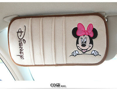 NEW Minnie Mouse Car Sunvisor CD Storage Holder