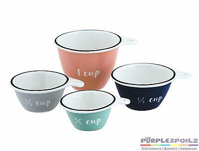 NEW ANNA GARE MEASURING CUPS Porcelain Cup Measure Kitchen Utensil SET 4