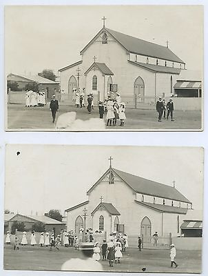 C1909 Rp 2 Postcards Sunday School Chn. St Peter's Anglican Ch. Br0Ken Hill D22