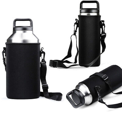 Sleeve Carrying Bag for 36oz 64oz Yeti Ramblers Bottle Cup Black with Handle Hot