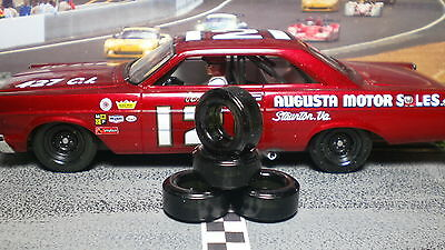 SOFT URETHANE SLOT CAR TIRES 2pr PGT-21093XD NEW SIZE fit MONOGRAM Nascar Racer