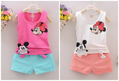 baby Girls clothes cotton summer Top vest +short pants kids girl outfits cartoon