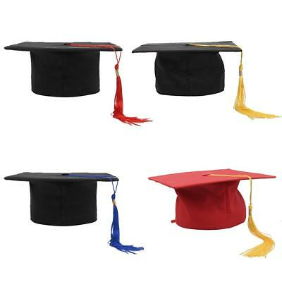 Mortarboard Hat Graduation Unisex Matte Adult Graduation Cap with Tassel