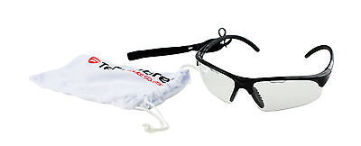 Tecnifibre Squash Racketball Protective Eyewear Glasses​ Goggles - Black Frame