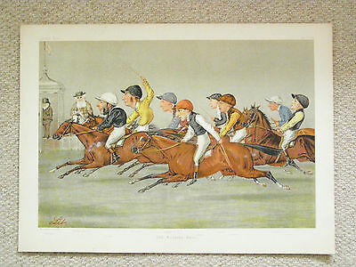 """An authentic Racing Vanity Fair double print """"The Winning Post"""" by 'Lib'."""