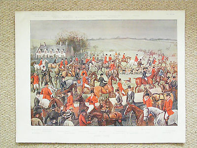 An authentic and original Vanity Fair double Fox Hunting print 'Kirby Gate'.
