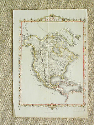 An original and authentic map of North America by J. Rapin.