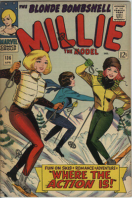 Millie The Model Issue 136 from 1966 Scarce Silver Age Marvel Romance Comic