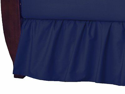 American Baby Company 100% Cotton Percale Ruffle Crib Skirt, Navy
