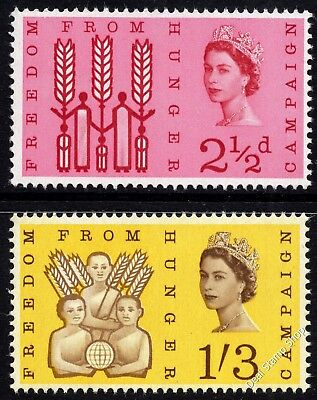 GB 1963 Freedom from Hunger SG634 - 635 Ordinary Complete Set Unmounted Mint