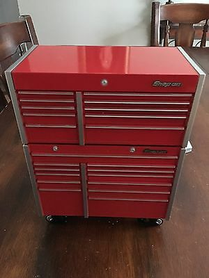 Snap On Die Cast Bank Tool Box 1/8 scale Roll Cab Tool Chest RARE
