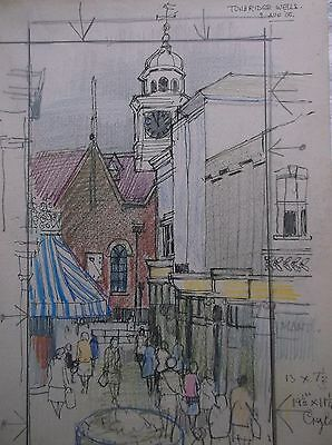 COLOURED GRAPHITE DRAWING by FREDERICK GEORGE WILLS 1901-1993 R.I. TUNBRIDGE WEL