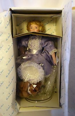"MIB Danbury Mint The Storybook Porcelain Doll ""Goldilocks"" ~10"""