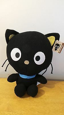 "Chococat Plush Black Cat 10.5"" Blue Bandana 1996"