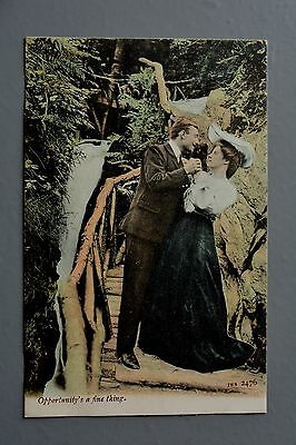 R&L Postcard: J Welch JWS 2476 Edwardian Courting Couple Man Woman Opportunity