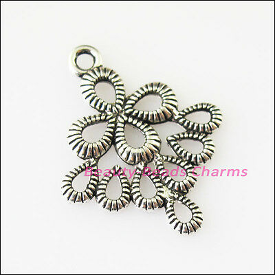 10 New Chinese Knot Connectors Tibetan Silver Tone Charms Pendants 20.5x26mm