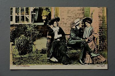 R&L Postcard: J Welch JWS 2435 Edwardian, Two's Company, Courting Couple