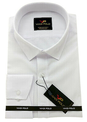 Men's Cotton white Shirt Classic collar Formal Casual Long sleeve Regular Fit