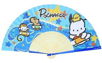 Authentic Sanrio Pochacco PC Dog Lady Women Hand Held Paper Folding Fan