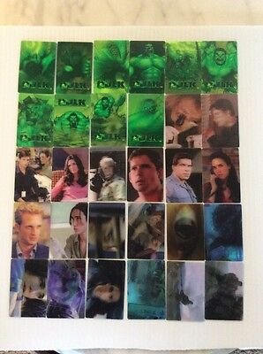 """2003 BIMBO PASTRYS """"The Hulk Movie"""" Complete Set of 30 Motion Cards"""
