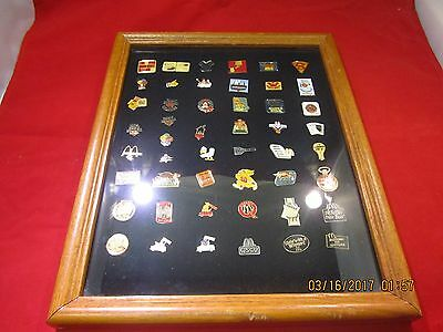 Framed McDonalds Pin Collection (A3)