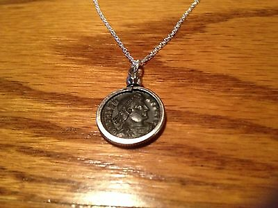 Ancient Roman Coin Necklace Pendant Jewelry  Authentic Natural Patina Roman Coin