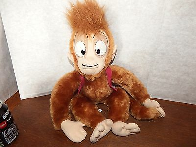"Vintage 18"" Disney Aladdin Abu soft plush figure toy Monkey made in Sri Lanka"