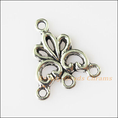 15 New Flower Connectors Tibetan Silver Tone Charms Pendants 17x19mm