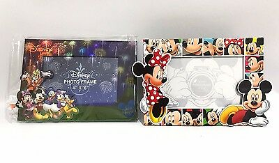 "Walt Disney World 4"" x 6"" Picture Frame Photo new Lot magnet back Mickey Friends"