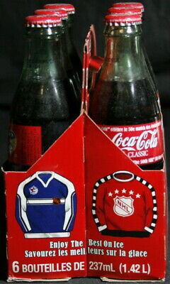 2000 NHL All Star Game 50th Anniversary Coca Cola Glass Bottles – Unopened