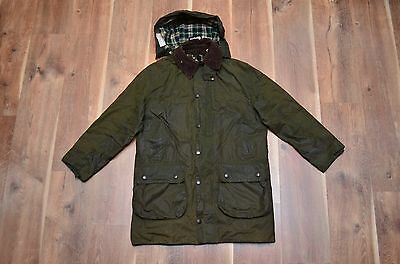 Barbour Men's A200 Border Waxed Hooded Jacket Coat Tartan C38/97 Small