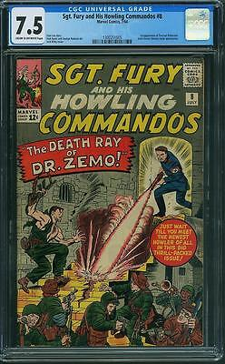 Sgt. Fury and His Howling Commandos #8 CGC 7.5 (NEW CASE)
