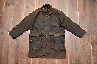 Barbour Men's Solway Zipper Waxed Jacket Hunting Coat Tartan Vintage C38/97
