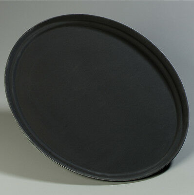 Carlisle Food Service Products Griptite™ Oval Tray Black *** 6 TOTAL TRAYS ***