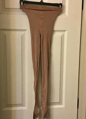 "NWOT Danskin NEW YORK CITY BALLET Professional ""toast"" Tights Style 602 Sz C USA"