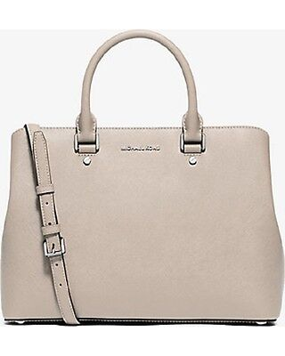 de28213c960d9 New Michael Kors Savannah Saffiano Leather Large Satchel cement silver bag  tote