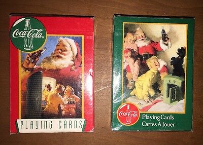 New Coca-Cola Collectible Christmas Playing Cards -- 2 Sealed Decks / Packs