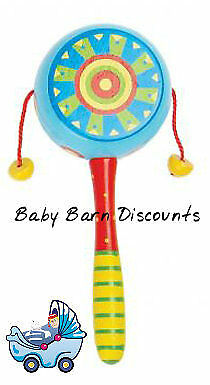 NEW Wooden Twist Drum - Blue from Baby Barn Discounts