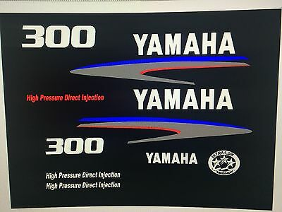 Yamaha Outboard Engine Decal Kit 300hp HPDI High Pressure Direct Injection