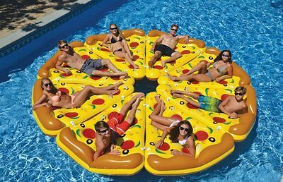 1X Swimming Pool Giant Inflatable Pizza Slice Float Summer Swim Ring Water Raft