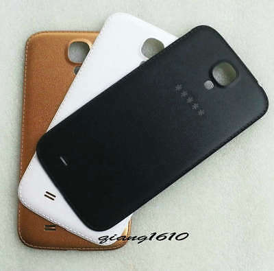 Faux Leather Battery Back Cover Door Samsung Galaxy S4 i9500 i337 i9505 L720