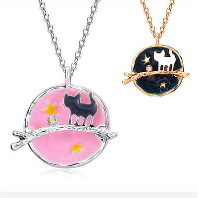 Fashion Women Nice Pretty Cat Chain Alloy Pendant Necklace Charm Jewelry