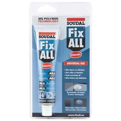 SOUDAL FixAll Classic White Bonding Sealing for All Materials Surfaces 80ml