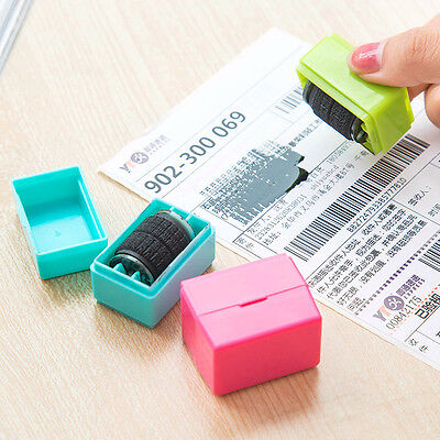 1Pc Messy Code Stamper Roller Wheel Imprinter Identity Theft Protection Secrecy