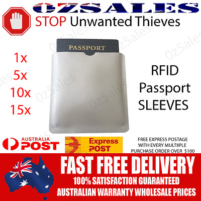 Passport 1/5/10/15 ID RFID Blocking Sleeve Shield Holder Protector 0zSales