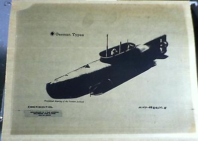 d.o.d. confidential submarine drawings government document seehund