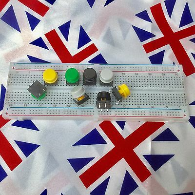 Tactile Push Button coloured Switches for Raspberry Pi Arduino Breadboard