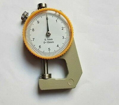 0-10mm Measure Device Leather Gauge Thickness Compact Flat Craft Tool Round Dial